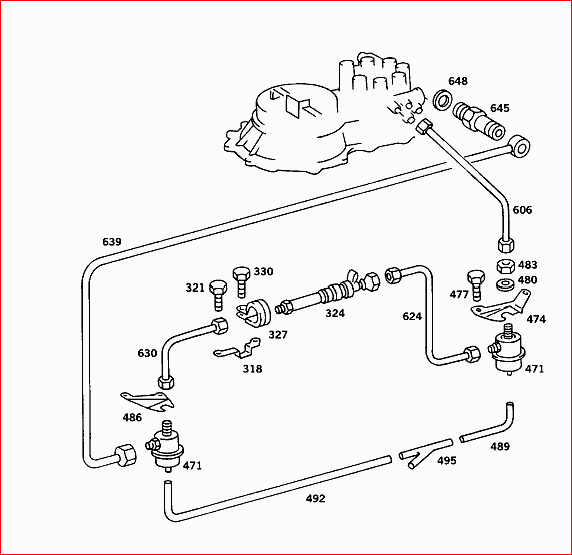 [SCHEMATICS_4US]  More trouble with my '84 500 SEC. Plastic vacuum broke and attempt to fix,  everything came apart. There is a black | Mercedes 500sec Engine Diagram |  | JustAnswer