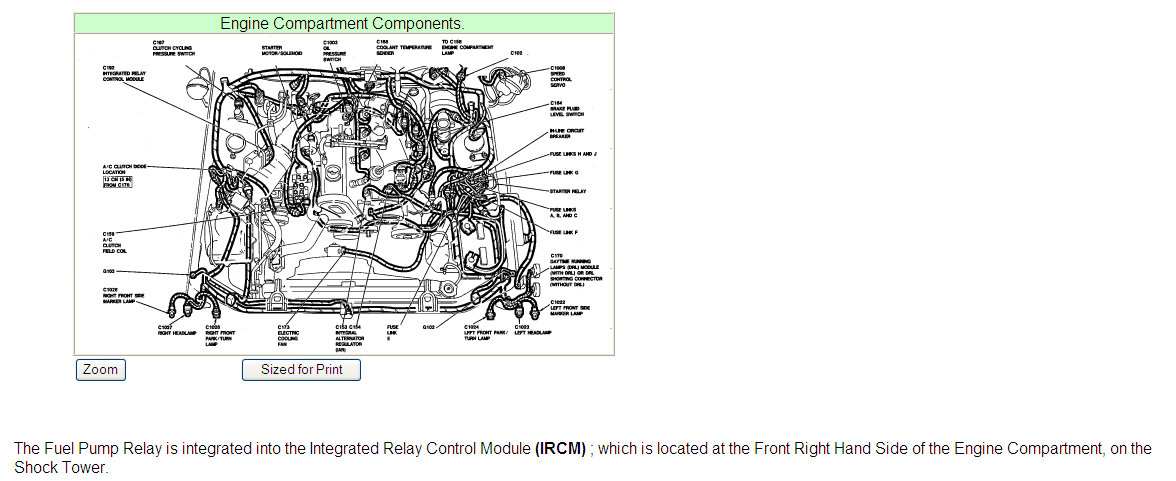 where is the fuel pump relay located on a 1993 ford mustang 2 3l 4 cyl