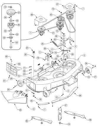 Murray Riding Mower Drive Belt Diagram 649314 likewise Murdeck moreover Sabre Riding Mower Wiring Diagram as well OMGX10782 H011 likewise Belt replacement on mod  917. on huskee mower deck diagram