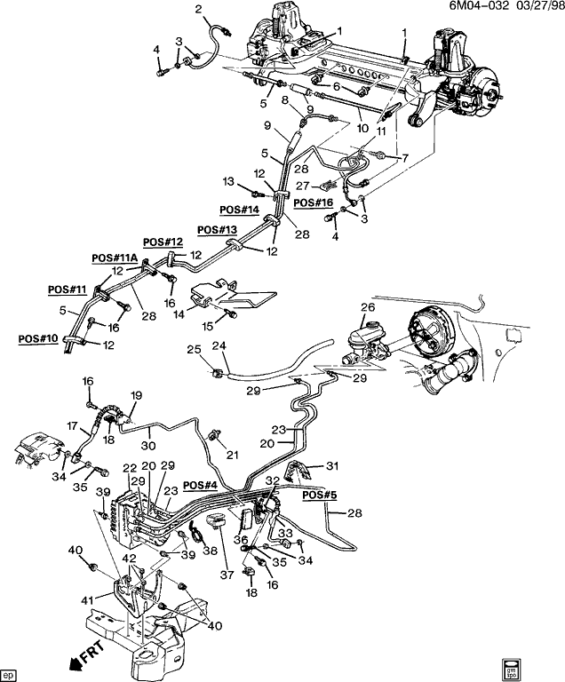 Need Hydraulic Brake Hose Diagram For 1998 Cadillac