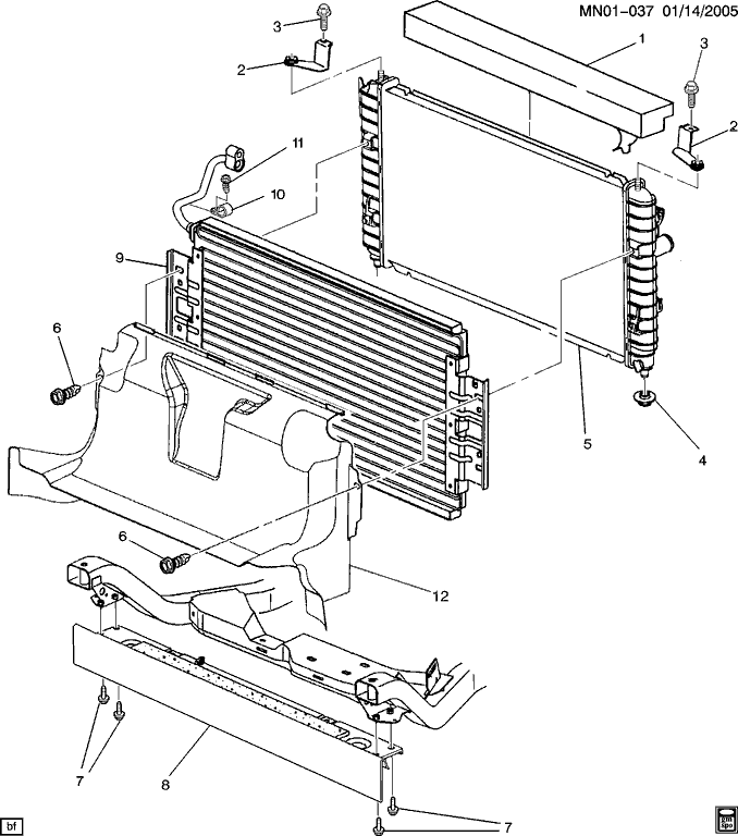 2005 pontiac grand am radiator diagram