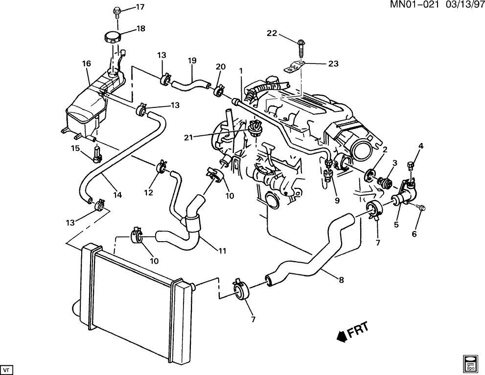 2000 Mustang Cooling System Diagram