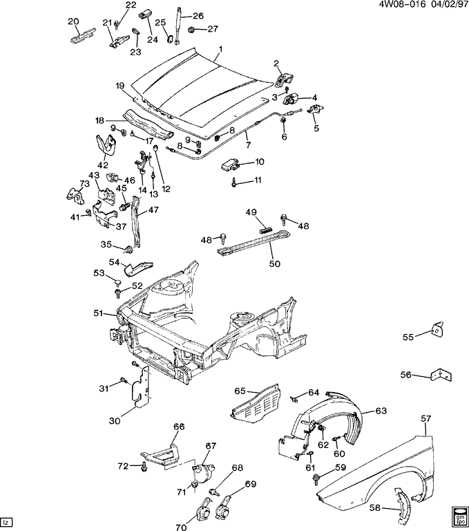 I Need The Routing Diagram Or Picture Of The Hood Release
