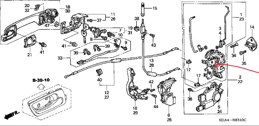 2010 Honda Accord Door Latch Diagram Honda Auto Parts