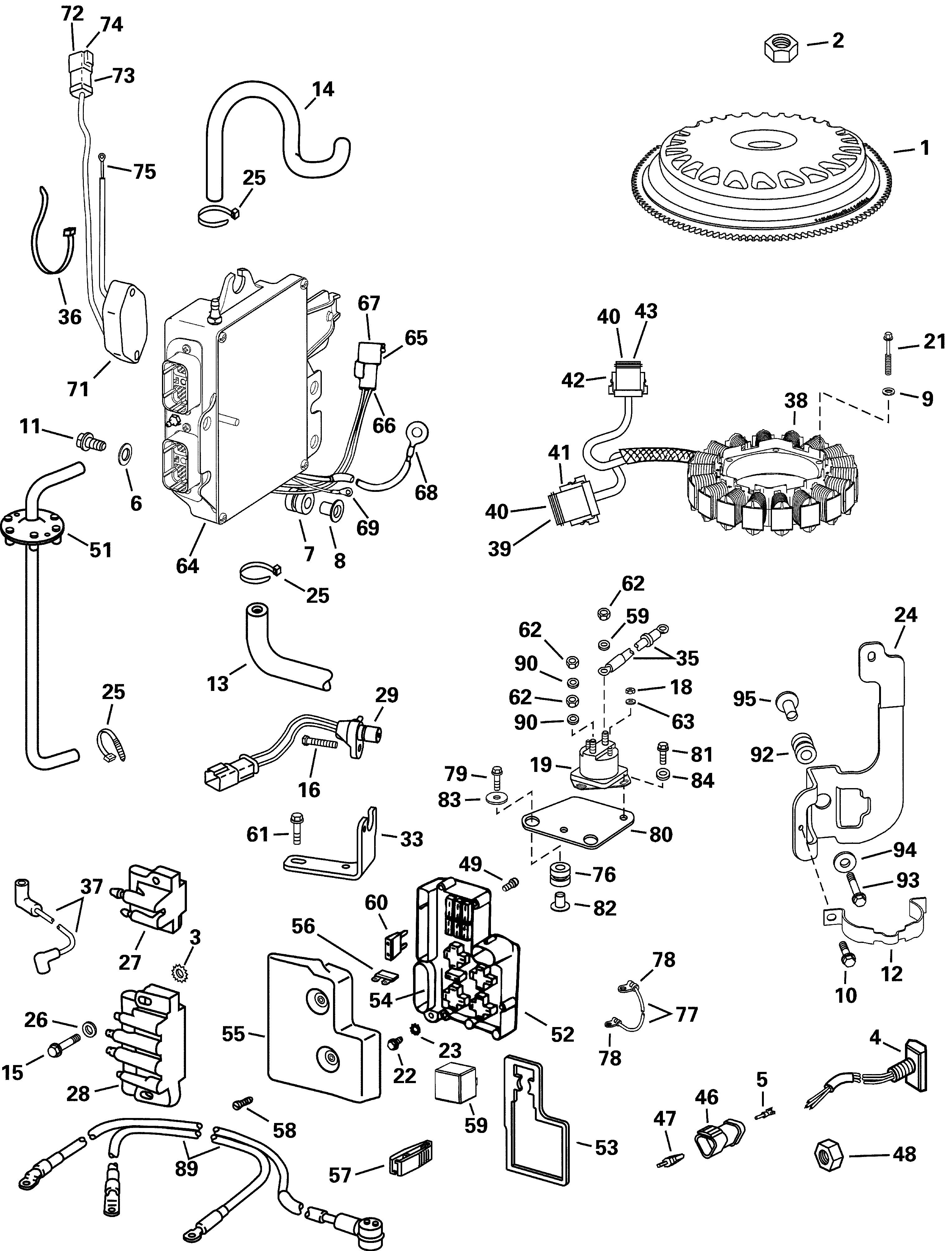 evinrude ficht 150 fuel pump diagram