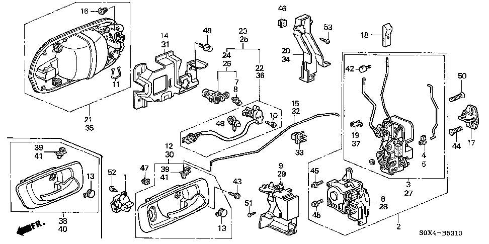 sliding door diagram 1999 honda