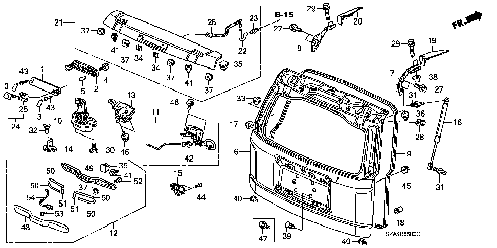 honda odyssey interior parts diagram