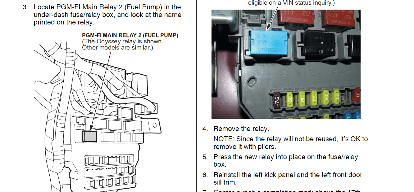 Honda Crv Fuel Pump Wiring Diagram Download Diagrams 2005 Cr V I Put Some Bad Gas About 1 5 Gal In My 2004 This Was Rh Justanswer Com For Brake Light Fuse Schematics 2001