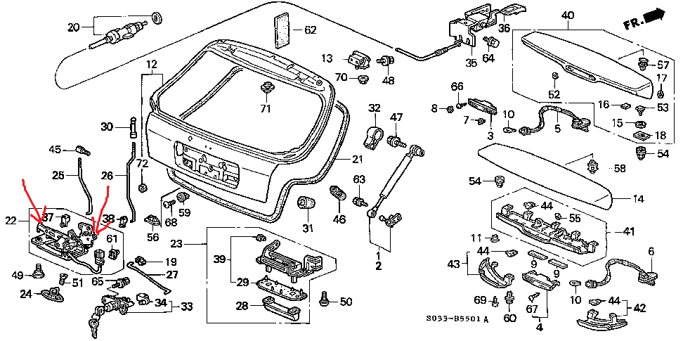 1998 Honda Civic  Hatch Is Stuck In Closed Position  Key