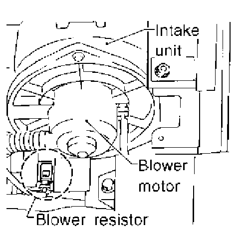service manual  2006 nissan maxima heater blower replace