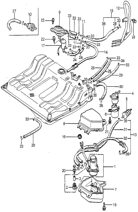 Where Is The Fuel Pump Located On The 1982 Honda Prelude