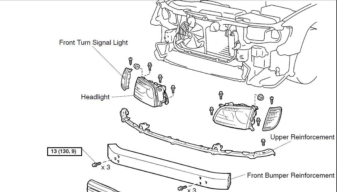 2003 lexus es300 fender diagram how do you change the front, passenger side, turn signal bulb for a es300 lexus? i removed the ... 2003 lexus es300 fuse box diagram