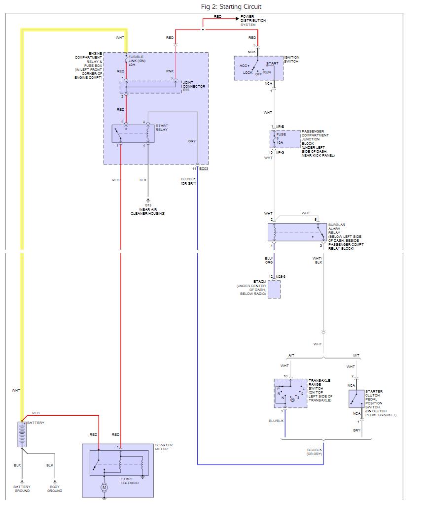 2005 Hyundai Elantra Fuse  Relaybox  Pigtail Plug Ec05  Wire Diagram  Changed Plug  From Junkjard
