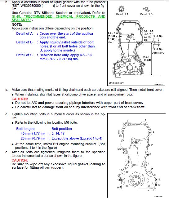 Qr20 Timing Chain Mark