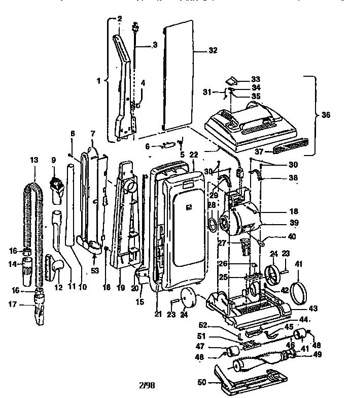 How To Change A Hoover Vacum Sweeper Belt Modle U5095 930 Ser