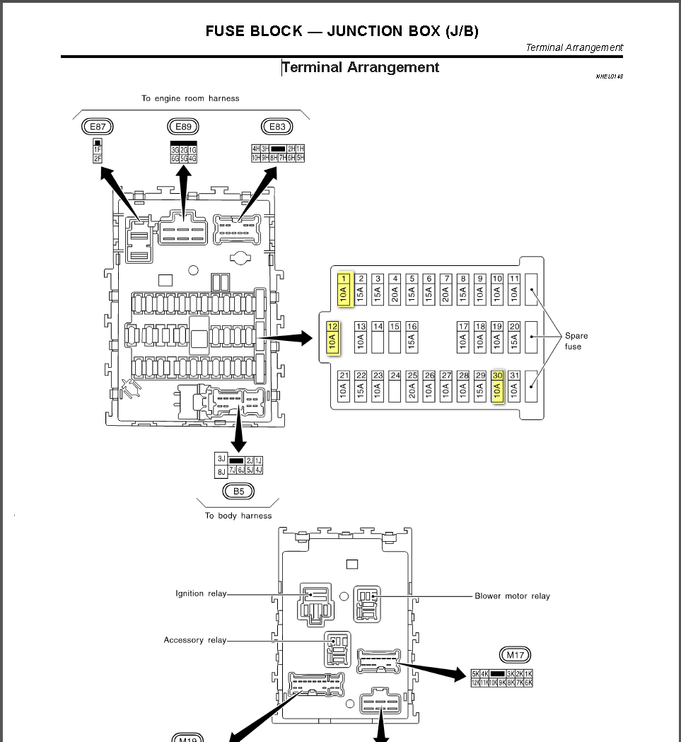 Infiniti I35 Fuse Box Layout Wiring Diagrams 2003 Diagram 2002 Location 35 2004