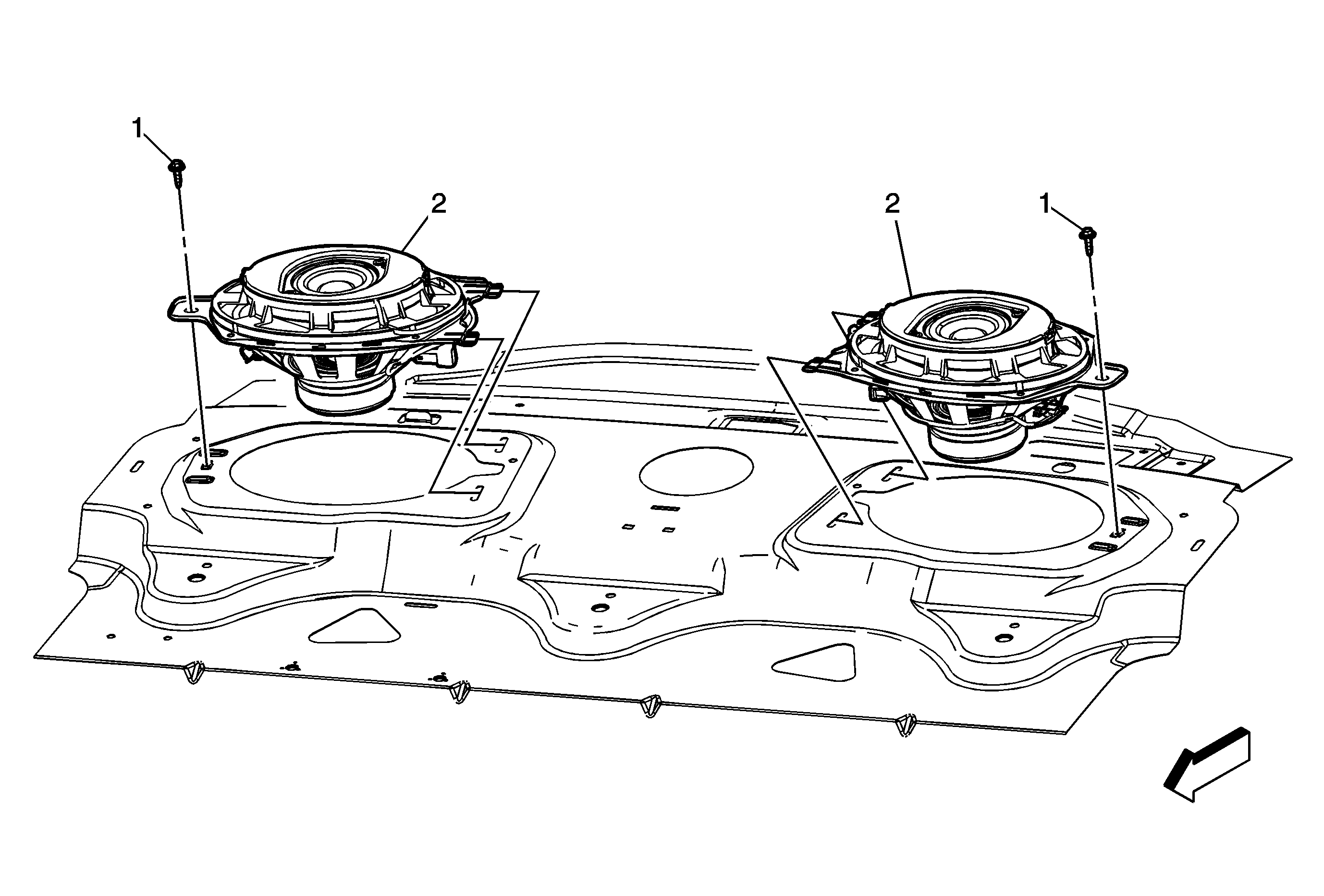 how do i replace my rear speakers in my 2011 malibu  and what size are they