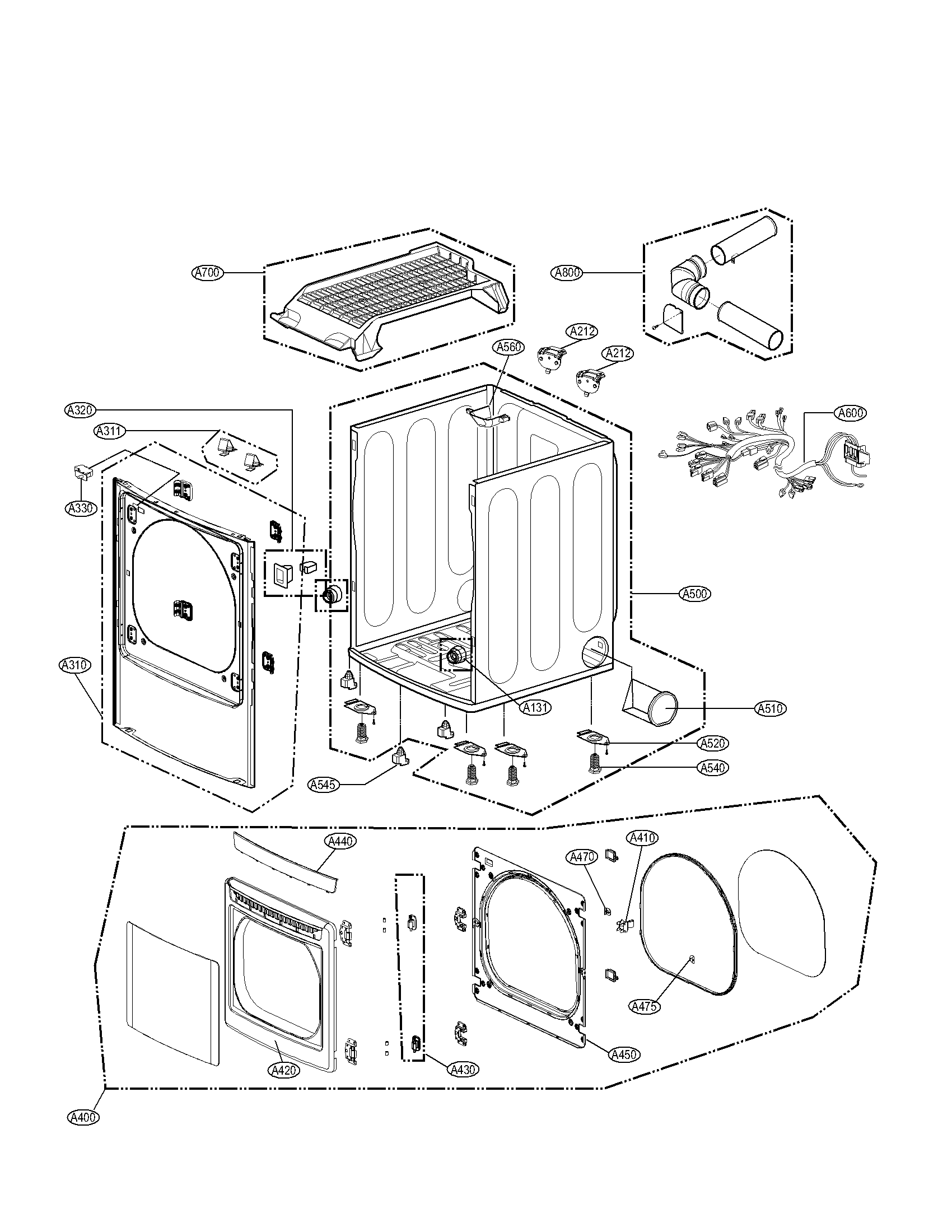 I need to gain acces to the inside of my LG model DLG5002W ... Kenmore Wiring Diagram on