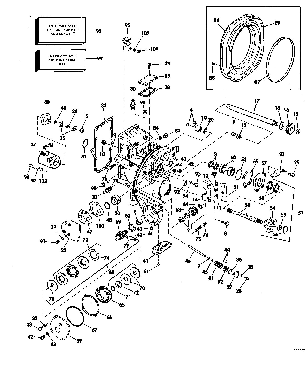 exploded view omc outdrive drawings sterndrive