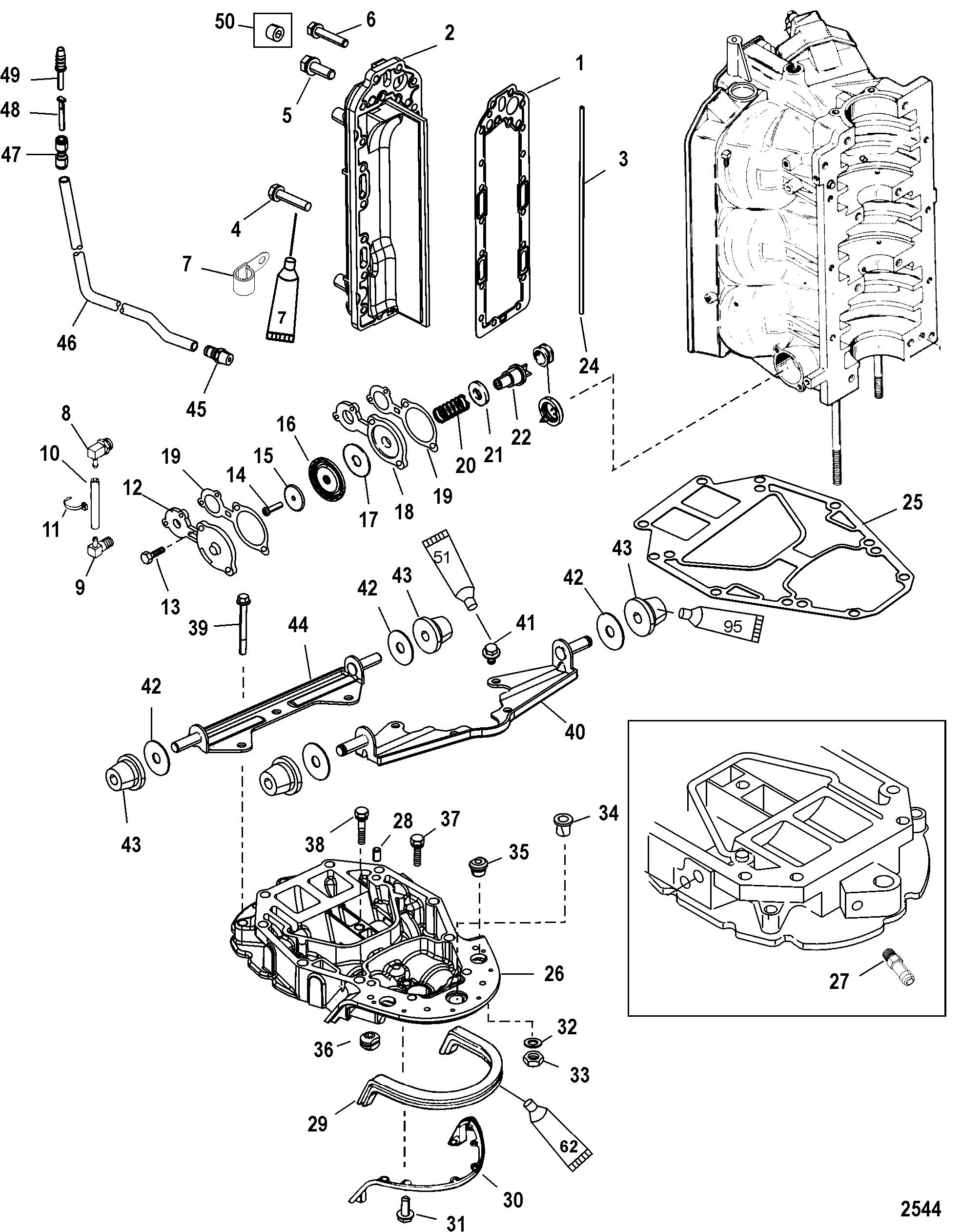 454 mercruiser cooling diagram
