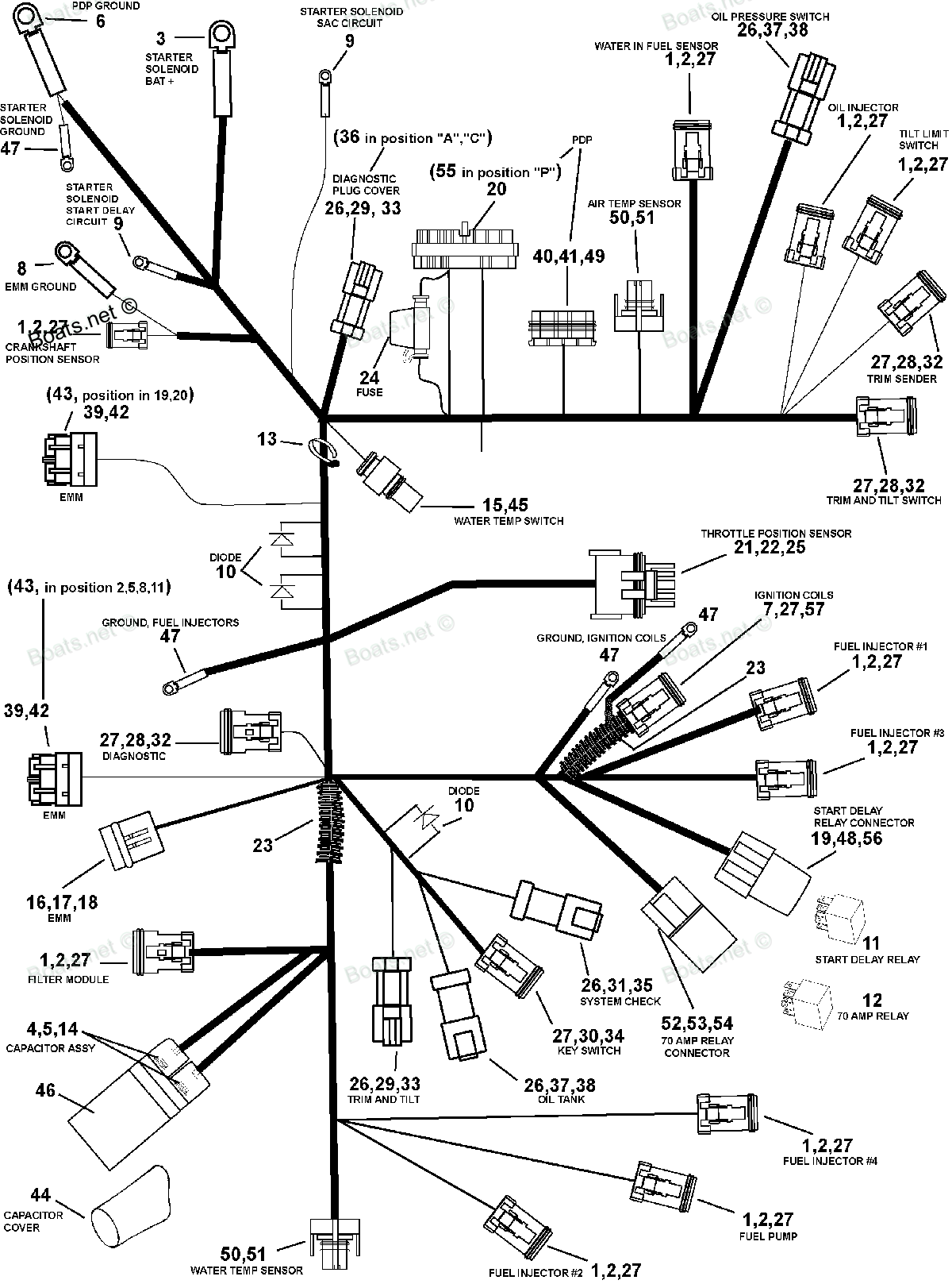 I Have A 02 75 Hp Fecht With No Power To Key Sw So Start Wire Harness Components Graphic