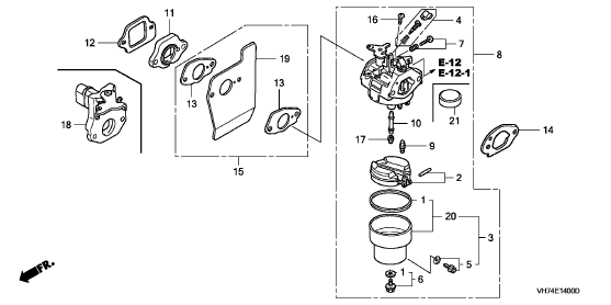 i have a honda hrx 217 lawnmower and need a diagram of the carburettor