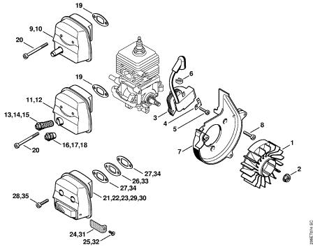 Stihl fs 38 parts Diagram