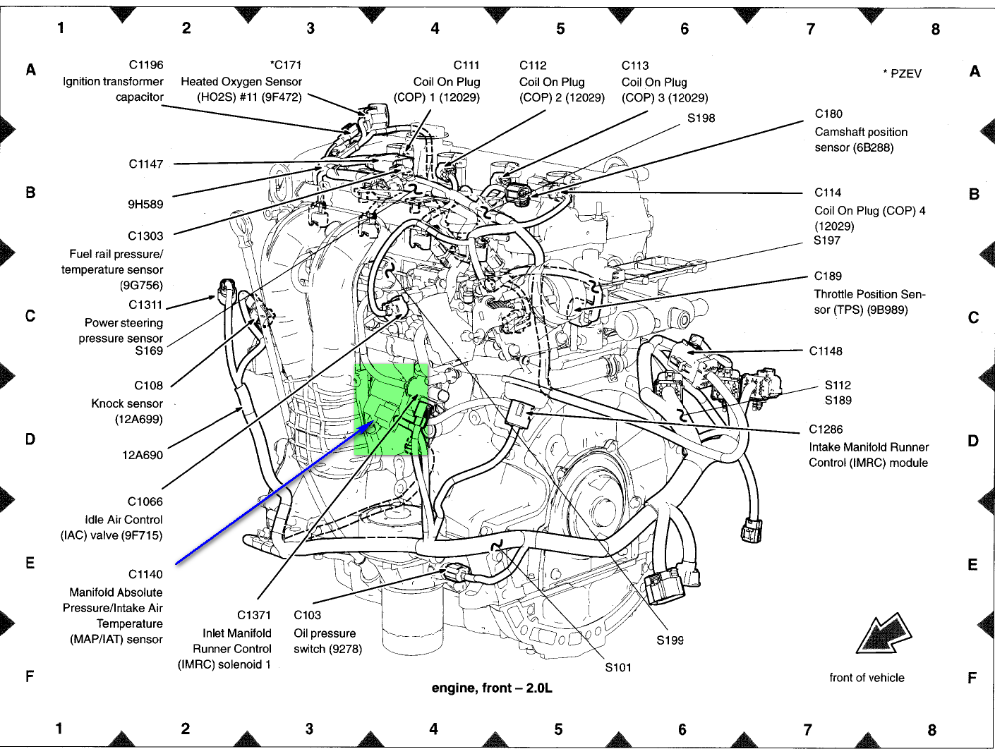 4 6l 2v Mustang Engine Diagram besides Engine and jet drive furthermore 326ba 03 Ford 6 0l Powerstroke Looking Location Egr further Ford F 150 Check Engine Light further Water Temp Sending Unit Location. on 1996 taurus coolant temperature sensor location