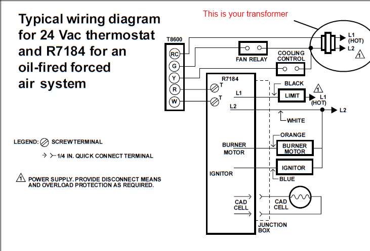 i am having trouble connecting a rodgers 668 401 to a wiring diagram for beckett oil burners wiring diagram for beckett oil furnace