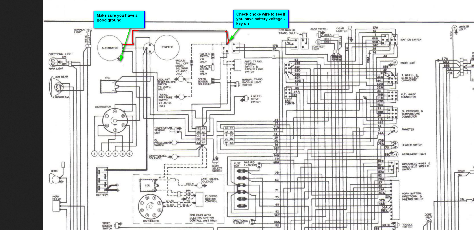 Scout Boat Wiring Diagram Library Basic Ignition Switch View With International 4700 I Ve Got A 79 Ii 345 And It Died On Me The