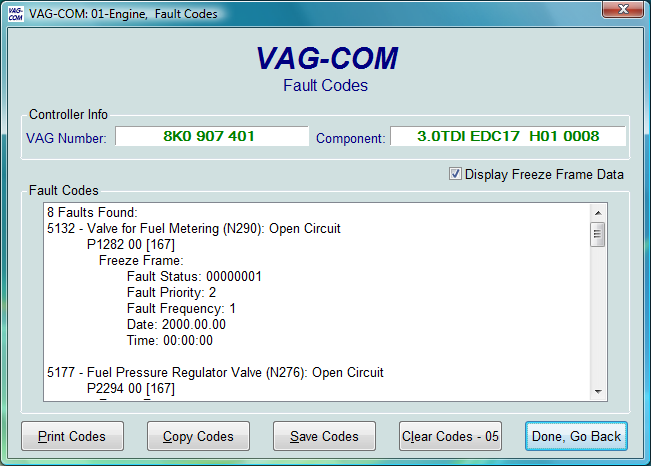 P740 Fault Code On 2001 Jetta Tdi Car Has Been Driven
