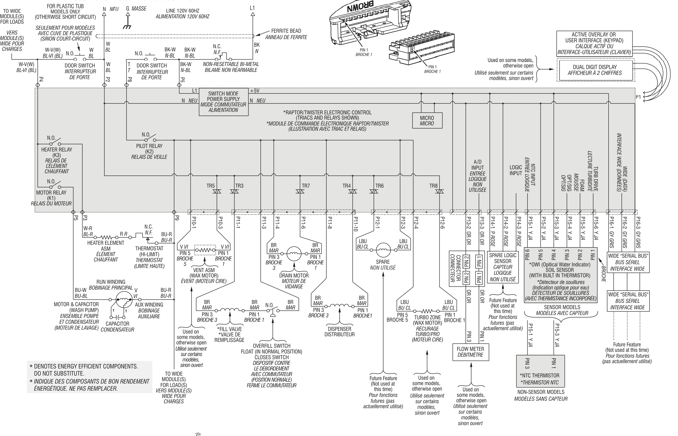 I need a wiring diagram for a Mod MDBH979AWB2 dishwasher It is a – Kitchenaid Oven Wiring Schematic
