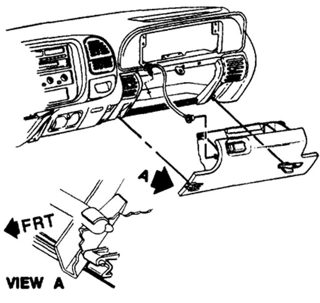 service manual  remove glove box on a 1999 chevrolet