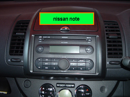 How do i remove radio from my nissan note 2006 import, fixings are