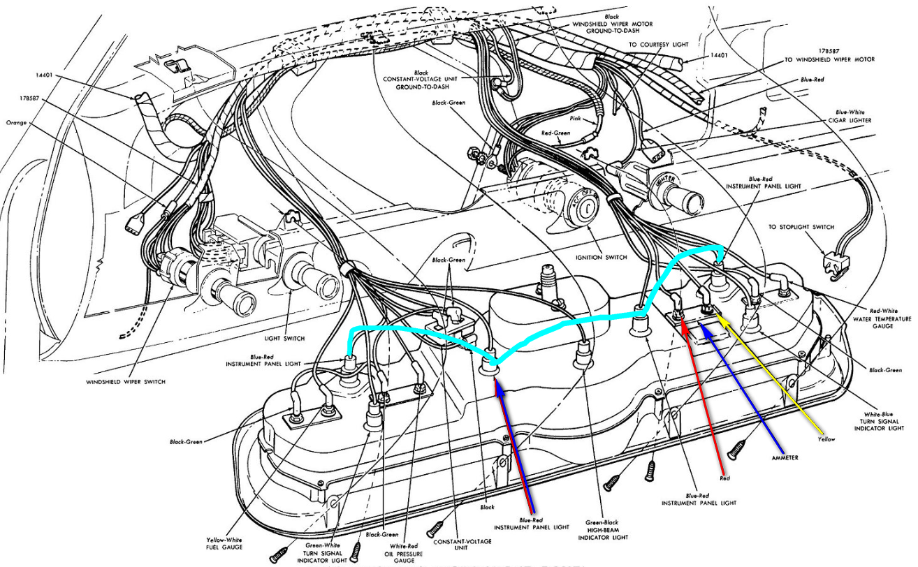 I Am Connecting The Wiring In A 1966 Mustang When Placed Gmc 1 2 Ton Diagram Graphic