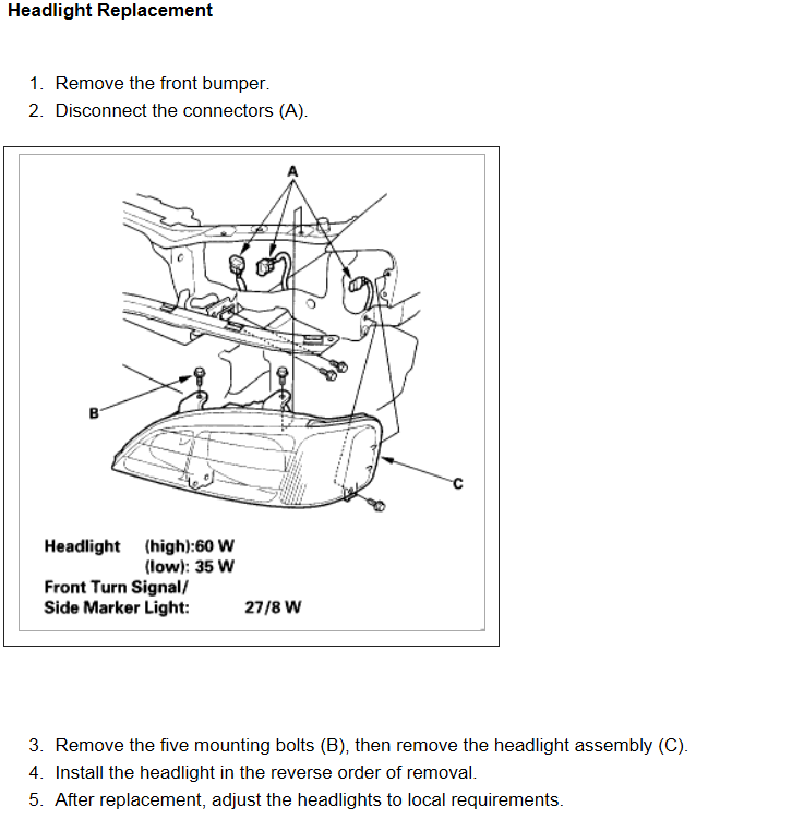 Explicit Instructions For Replacing Both Headlight Assemblies On - Acura tl headlight replacement