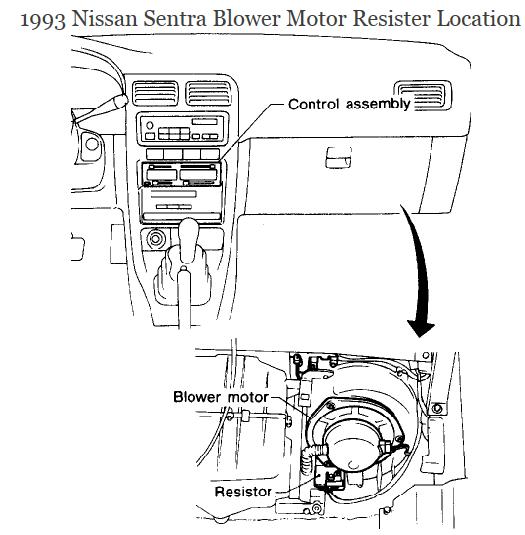 Nissan sentra blower motor