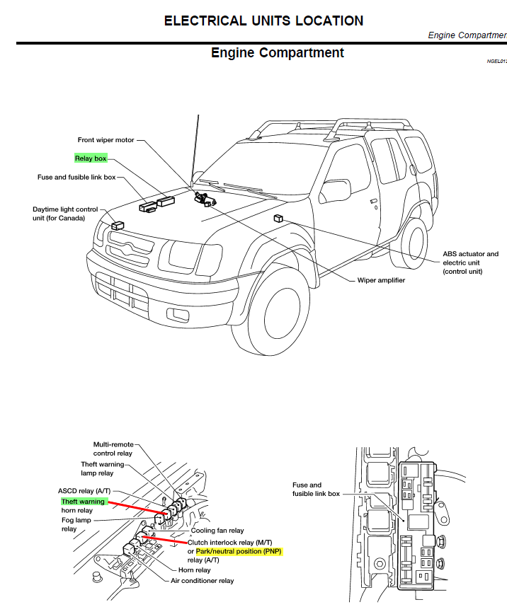 nissan xterra door actuators relay diagram wiring   49