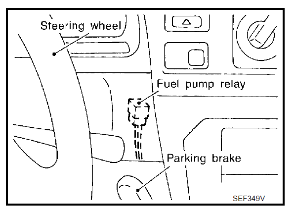 location of fuel pump relay on 2003 xterra v6 2wd