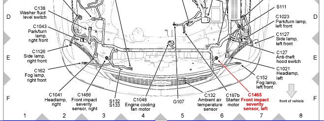 ford escape hood latch diagram html