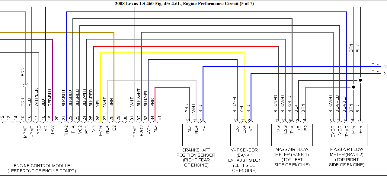 2008 lexus ls460 - where is the maf sensor located (diagram?) and, Wiring diagram