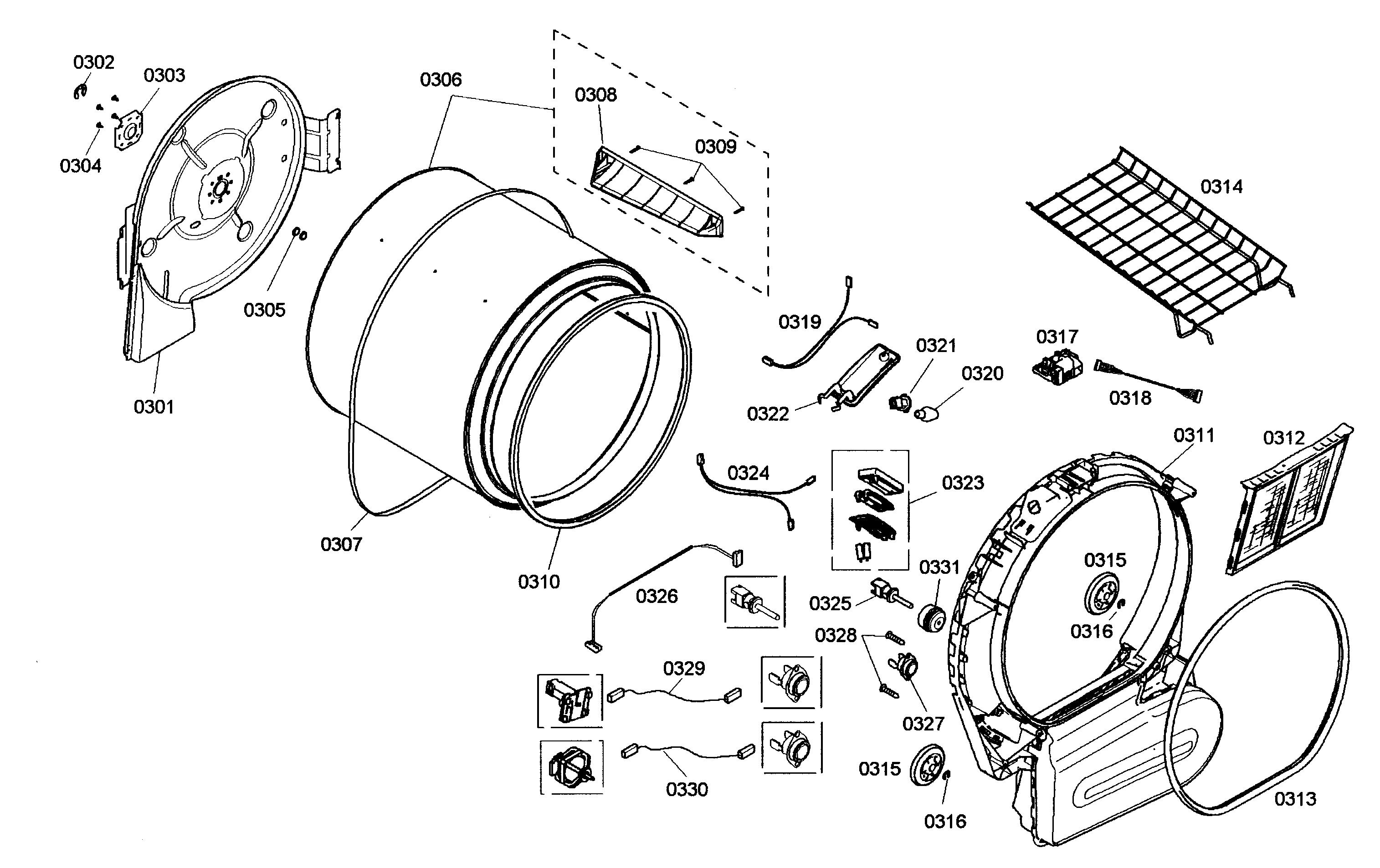 bosch nexxt 500 series dryer diagram