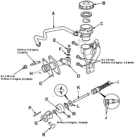 Where Is The Hydraulic Chamber On A 1994 Honda Prelude