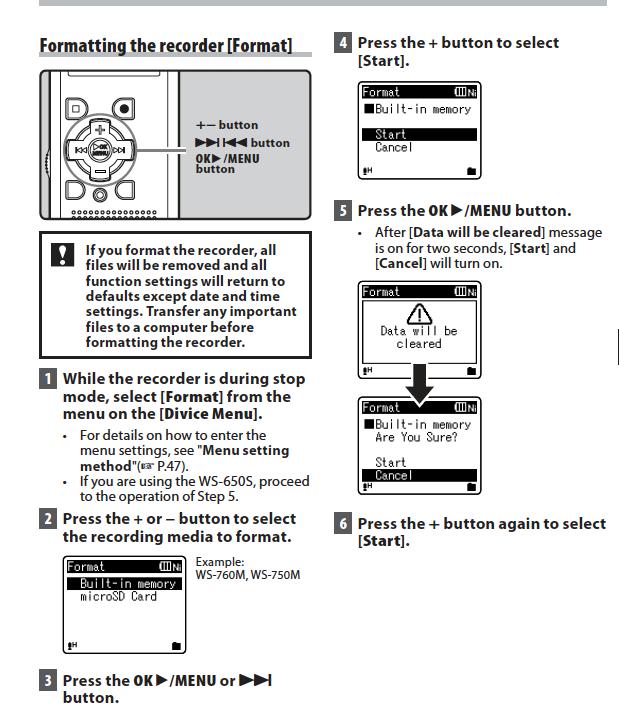 olympus digital voice recorder instructions