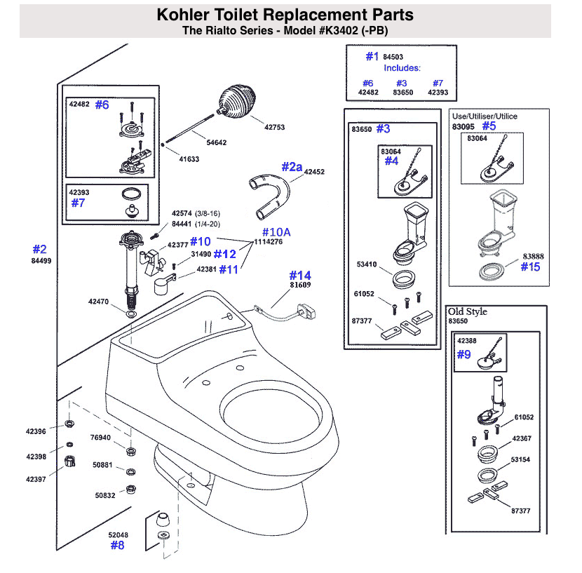 Brilliant We Have A Kohler 3402 Pb And Have Replaced The Fill Valve Cjindustries Chair Design For Home Cjindustriesco
