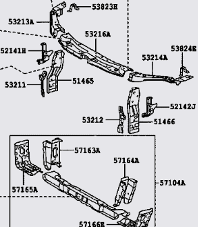 toyota camry ce: can anyone give me a front body parts diagram