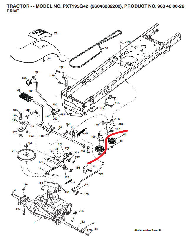 i have a poulan 42 17 5 hp lawn tractor the drive belt keeps rh justanswer com Poulan Mower PO17542LT Poulan PO17542LT Parts Catalog