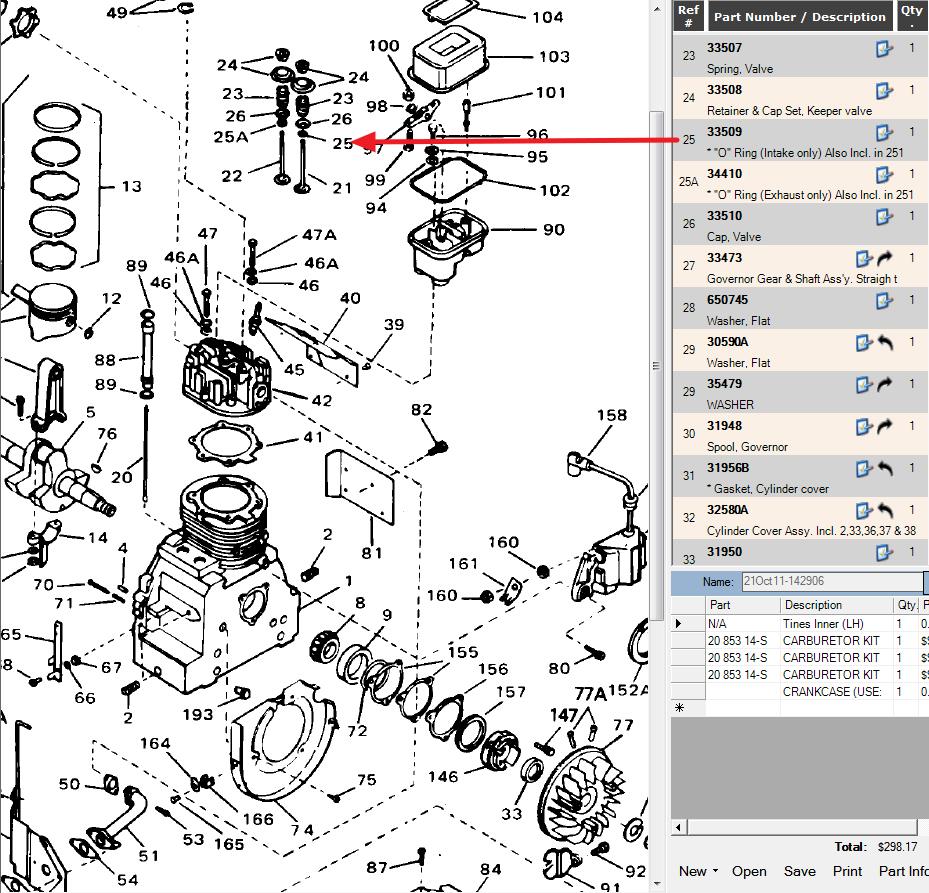 Tecumseh Oh120 Sucking Oil Down Intake Valve Using 1 2 Quart Every Briggs And Stratton Carburetor Diagram Http Wwwjustanswercom Small Graphic