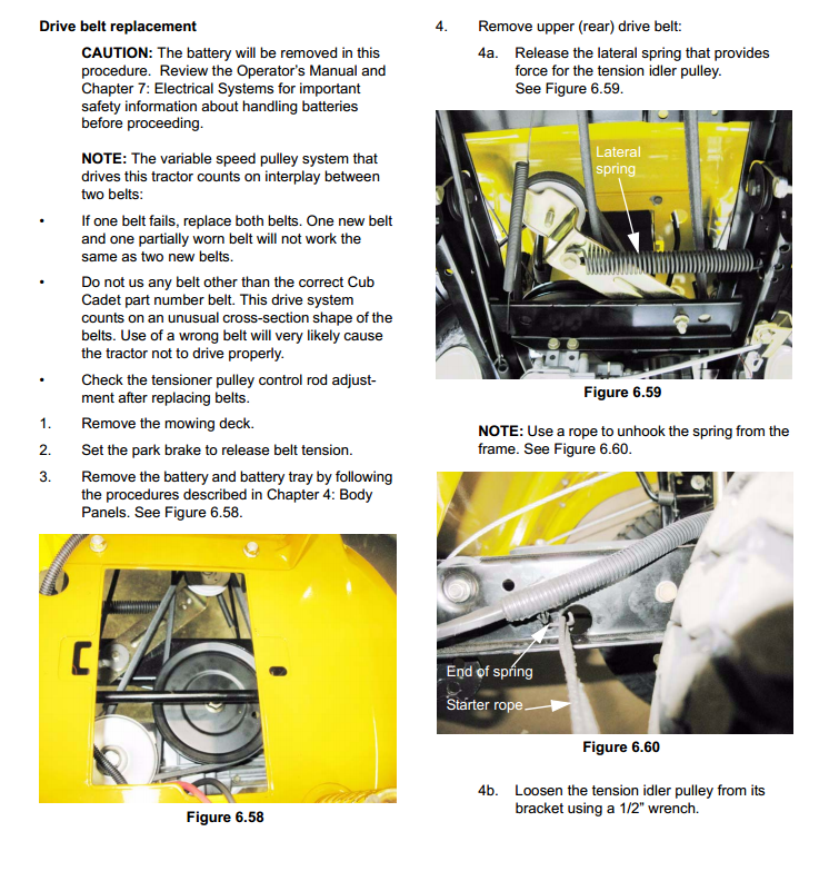 how to replace drive belt on cub cadet ltx 1040