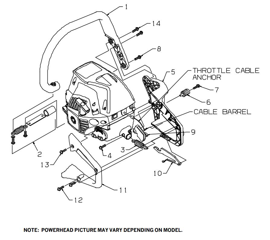 I have a Craftsman Model XXXXXXXXX 46cc Chainsaw with a 20